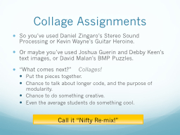 Collage Assignments