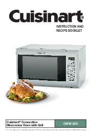 Cuisinart Convection Microwave Oven with Grill CMW For your safety and continued enjoyment of this product always read the instruction book carefully before using