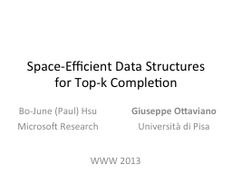 Space-Efficient Data Structures for Top-k Completion