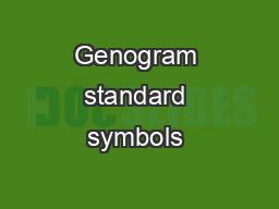 Genogram standard symbols  PDF document - DocSlides