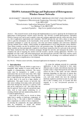 THAWS: Automated Design and Deployment of Heterogeneous Wireless Senso
