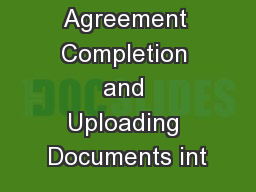 Enrollment Agreement Completion and Uploading Documents int