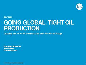 :  TIGHT OIL PRODUCTION