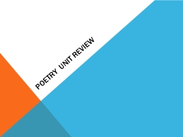 POETRY UNIT REVIEW