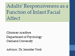 Adults' Responsiveness as a Function of Infant Facial Aff