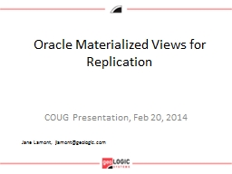 Oracle Materialized
