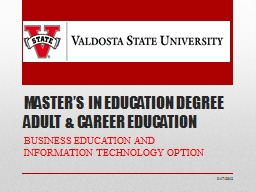 MASTER'S IN EDUCATION DEGREE