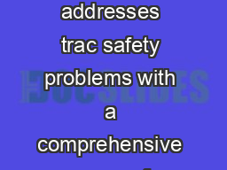 The Nations Top Strategies to Stop Impaired Driving Introduction NHTSA addresses trac safety problems with a comprehensive range of approaches including a focus on education and advising families on