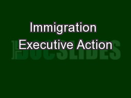 Immigration Executive Action