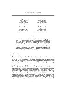 Accuracy at the Top Stephen Boyd Stanford University Packard  Stanford CA  boydstanford