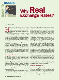 BACK TO BASICS OW does one determine whether a currency is fundamentally undervalued or overvalued his question lies at the core of international eco nomics many trade disputes and the new IMF survei
