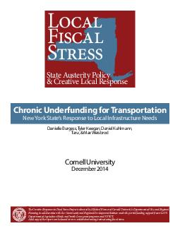 The Creative Responses to Fiscal Stress Project is directed by Mildred