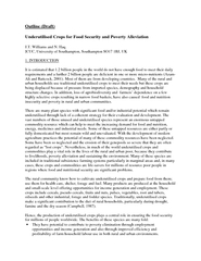 Outline (Draft)  nderutilised Crops for Food Security and Poverty Alle