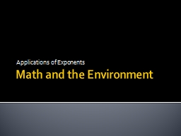 Math and the Environment