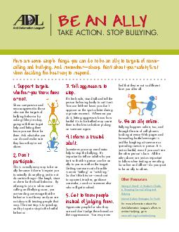 Show compassion and encouragement to those who are the targets of bullying be