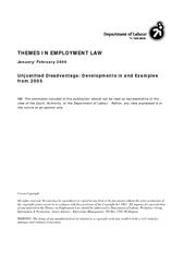 THEMES IN EMPLOYMENT LAW NB: The comments included in this publication