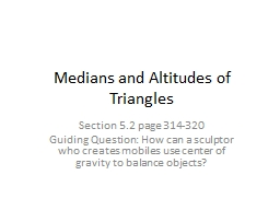 Medians and Altitudes of Triangles