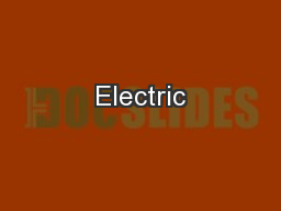 Electric PowerPoint PPT Presentation