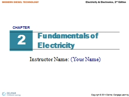 Fundamentals of Electricity PowerPoint PPT Presentation