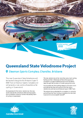 Queensland State Velodrome ProjectThe new Queensland State Velodrome w