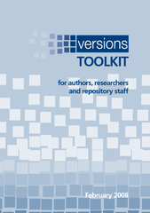 for authors, researchers and repository staffFebruary 2008TOOLKIT ...