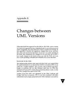 Appendix BChanges between UML VersionsWhen this book first appeared on