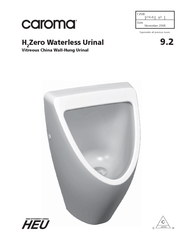 (74.4)g3Supersedes all previous issuesZero Waterless UrinalVitreous Ch