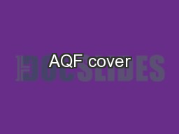 AQF cover PowerPoint PPT Presentation