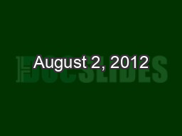 August 2, 2012