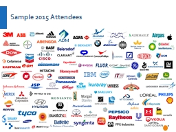 Sample 2015 Attendees