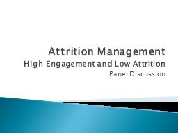 Attrition Management