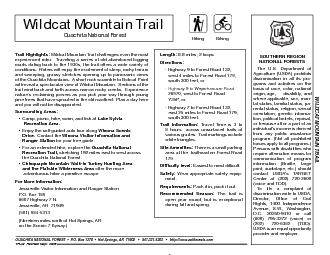 Trail Highlights:Wildcat Mountain Trail challenges even the most exper