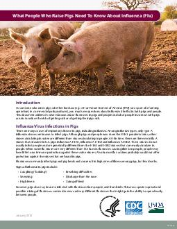 CS January  What People Who Raise Pigs Need To Know About Inuenza Flu Introduction As someone who raises pigs whether for show e PDF document - DocSlides