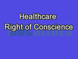 Healthcare Right of Conscience