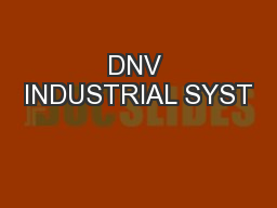 DNV INDUSTRIAL SYST