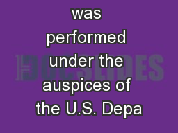 This work was performed under the auspices of the U.S. Depa