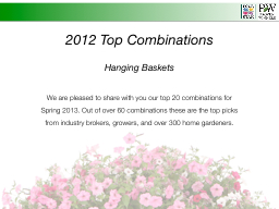 2012 Top Combinations PowerPoint PPT Presentation