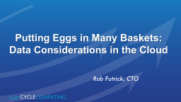 Putting Eggs in Many Baskets: