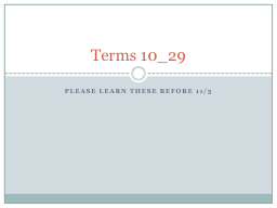 Please learn these before 11/5 PowerPoint PPT Presentation