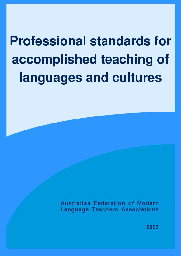 Accomplished languages and cultures teaching Being an accomplished tea