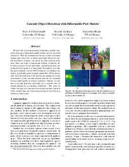 Cascade Object Detection with Deformable Part Models Pedro F PDF document - DocSlides