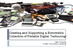 Creating and Supporting a Borrowable Collection of Portable
