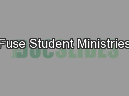 Fuse Student Ministries