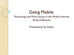 Going Mobile: