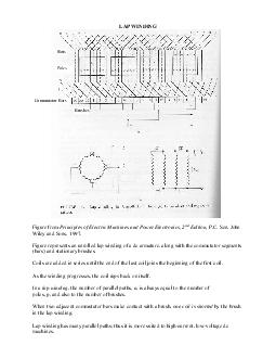 LAP WINDING Figure from Principles of Electric Machines and Power Electronics  nd Edition P PDF document - DocSlides