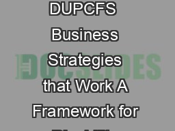 Business Strategies that Work A FRAMEWORK FOR DISABILITY INCLUSION DUPCFS  Business Strategies that Work A Framework for Disability Inclusion Business Strategies that Work A Framework for Disability