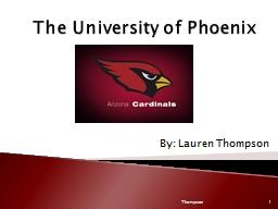 The University of Phoenix
