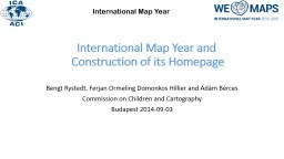 International Map Year and