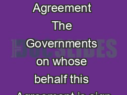 IDA Articles of Agreement The Governments on whose behalf this Agreement is sign PDF document - DocSlides