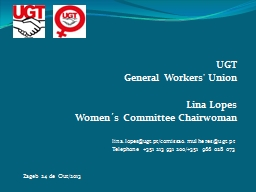 UGT General Workers' Union PowerPoint PPT Presentation
